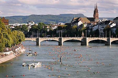 Basel river and bridge